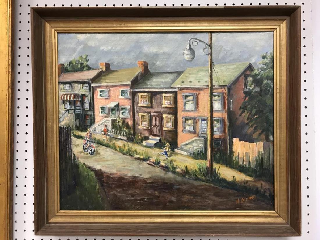 Oil on canvas Allentown Street scene