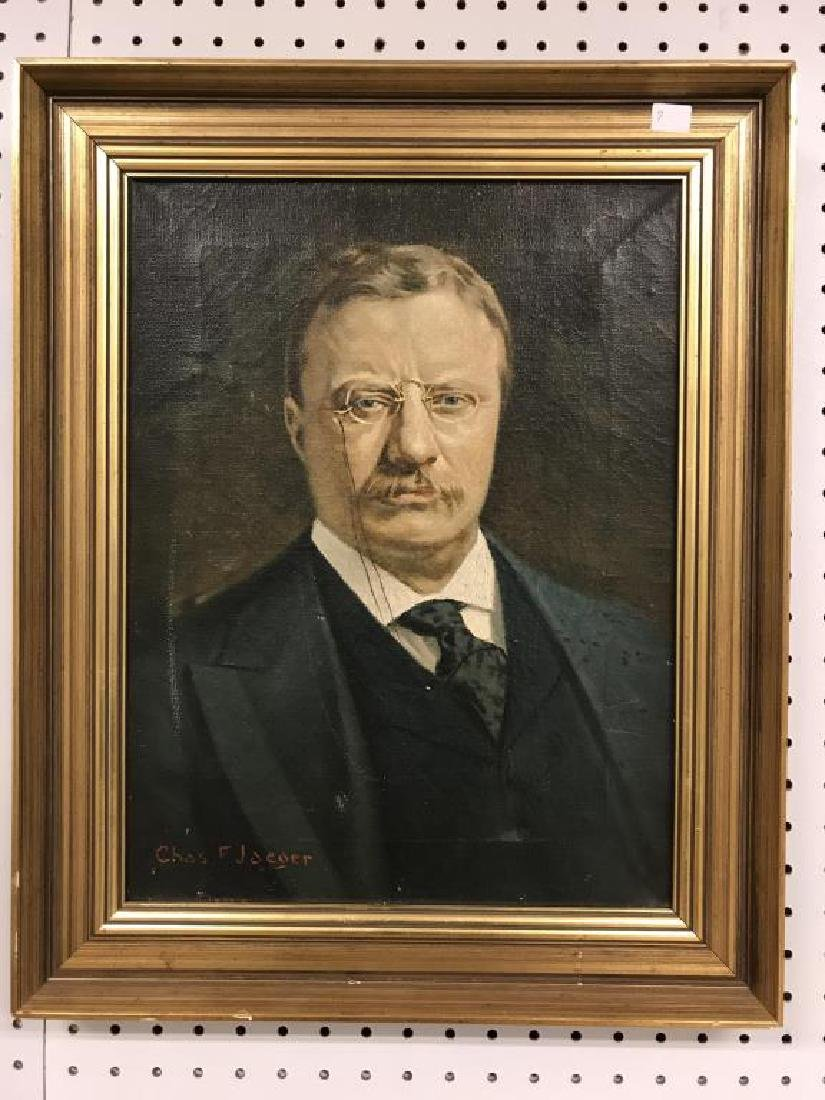 Oil on canvas Portrait of Theodore Roosevelt