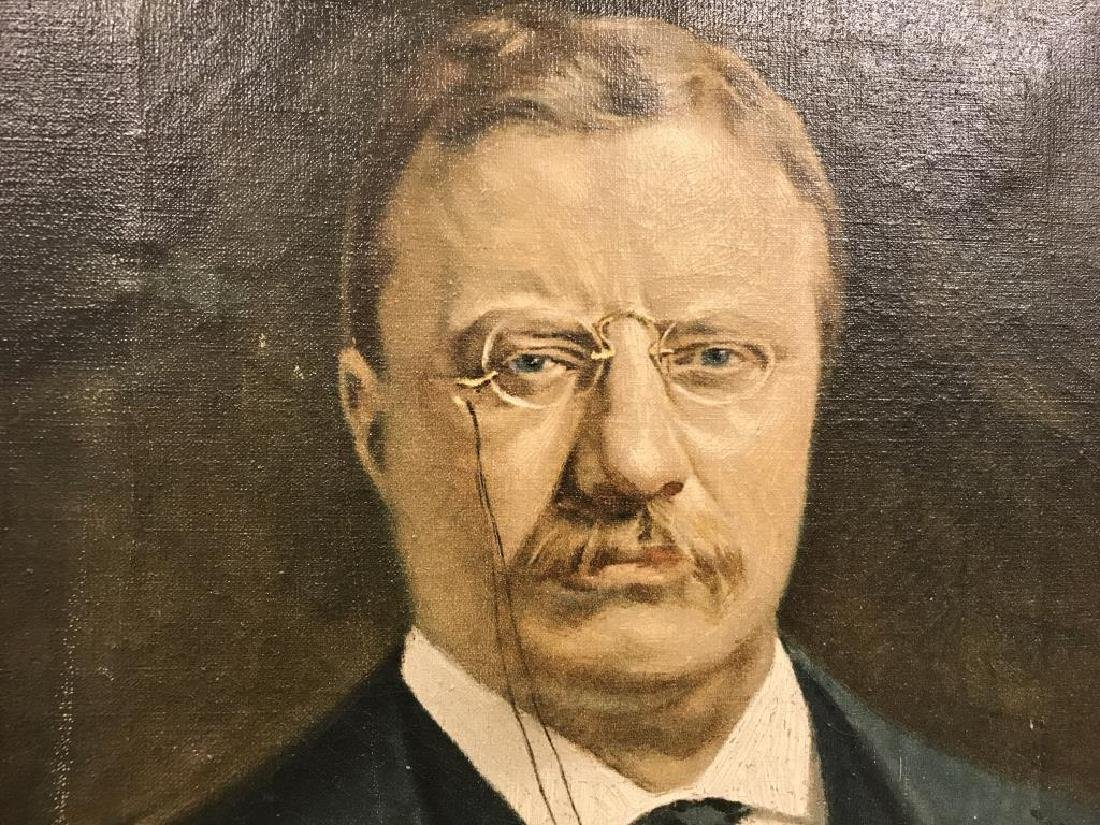 Oil on canvas Portrait of Theodore Roosevelt - 2