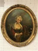 Portrait of woman with vessel