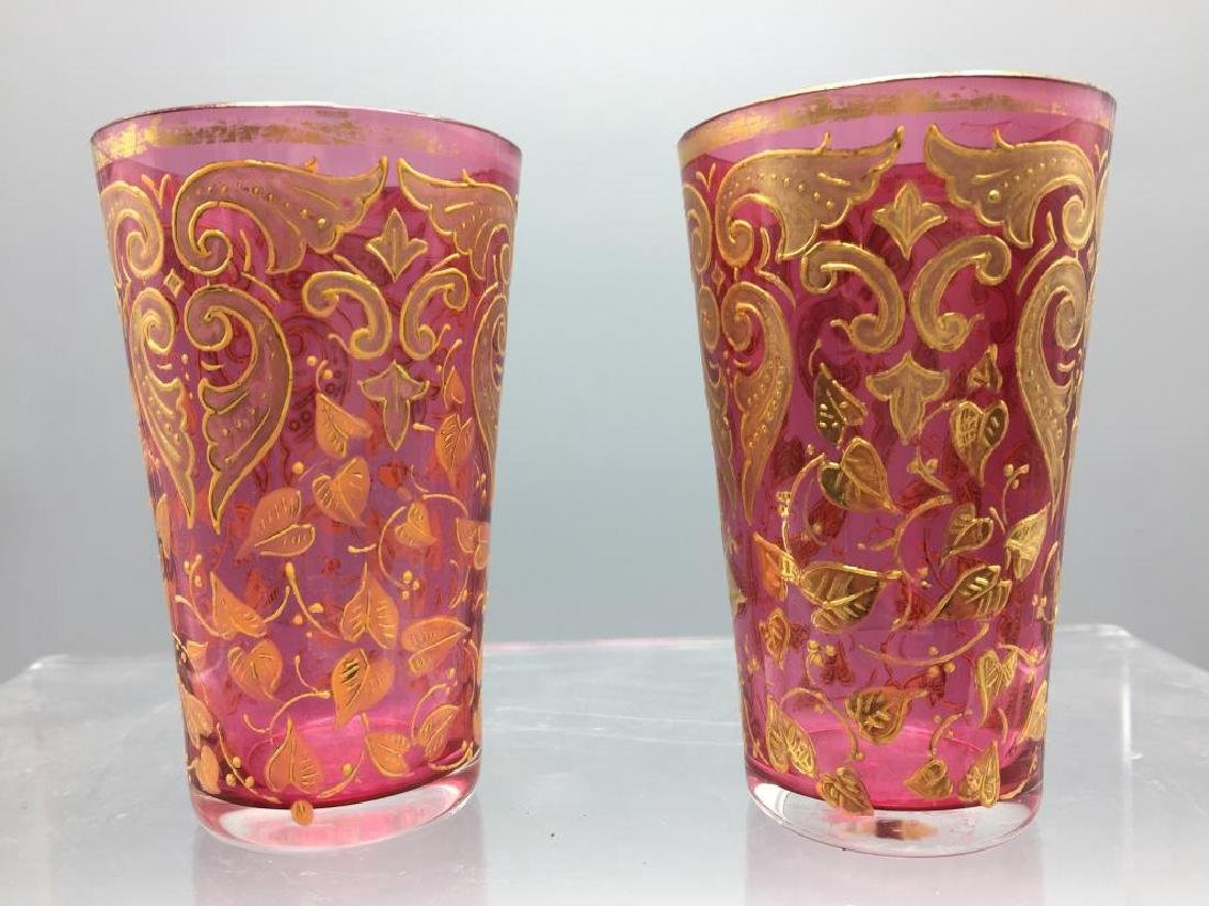 4  Moser glass tumblers - 2