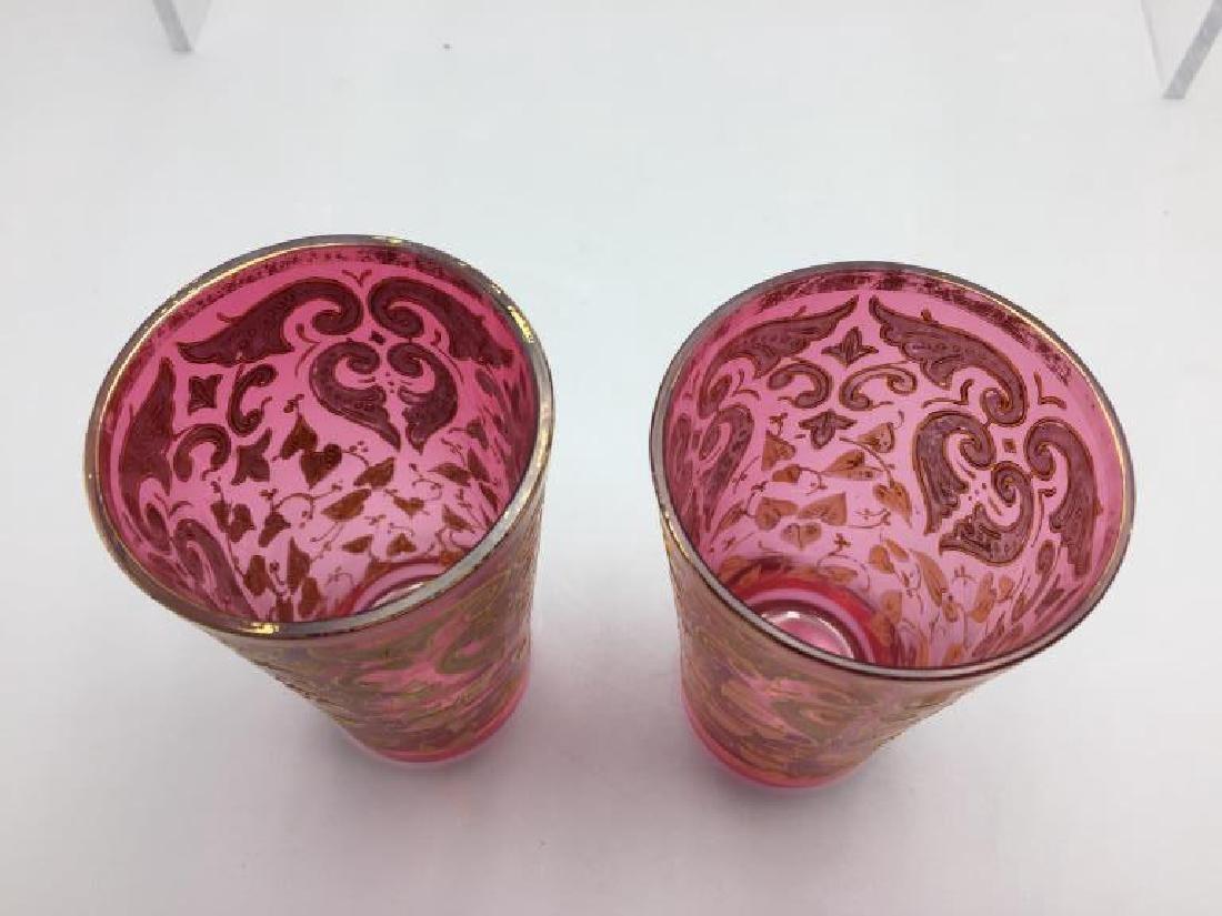 4  Moser glass tumblers - 3
