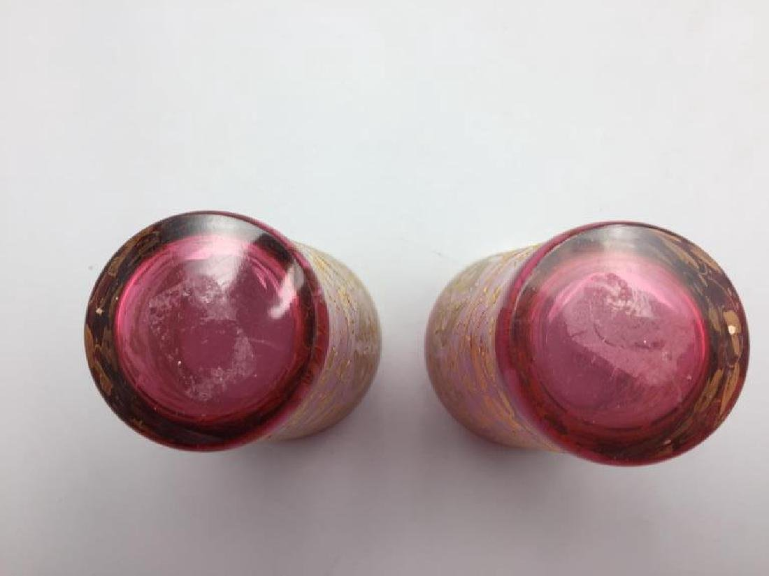 4  Moser glass tumblers - 4