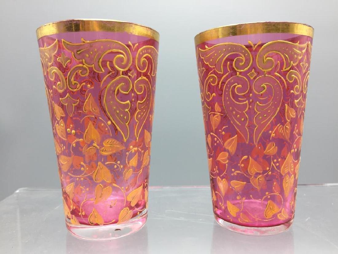 4  Moser glass tumblers - 5