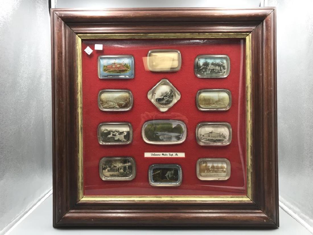 12 framed Water Gap paper weights