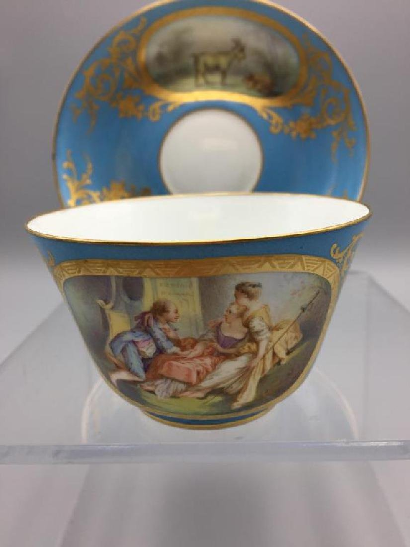 Sevres cup and saucer, lot of 4 - 2