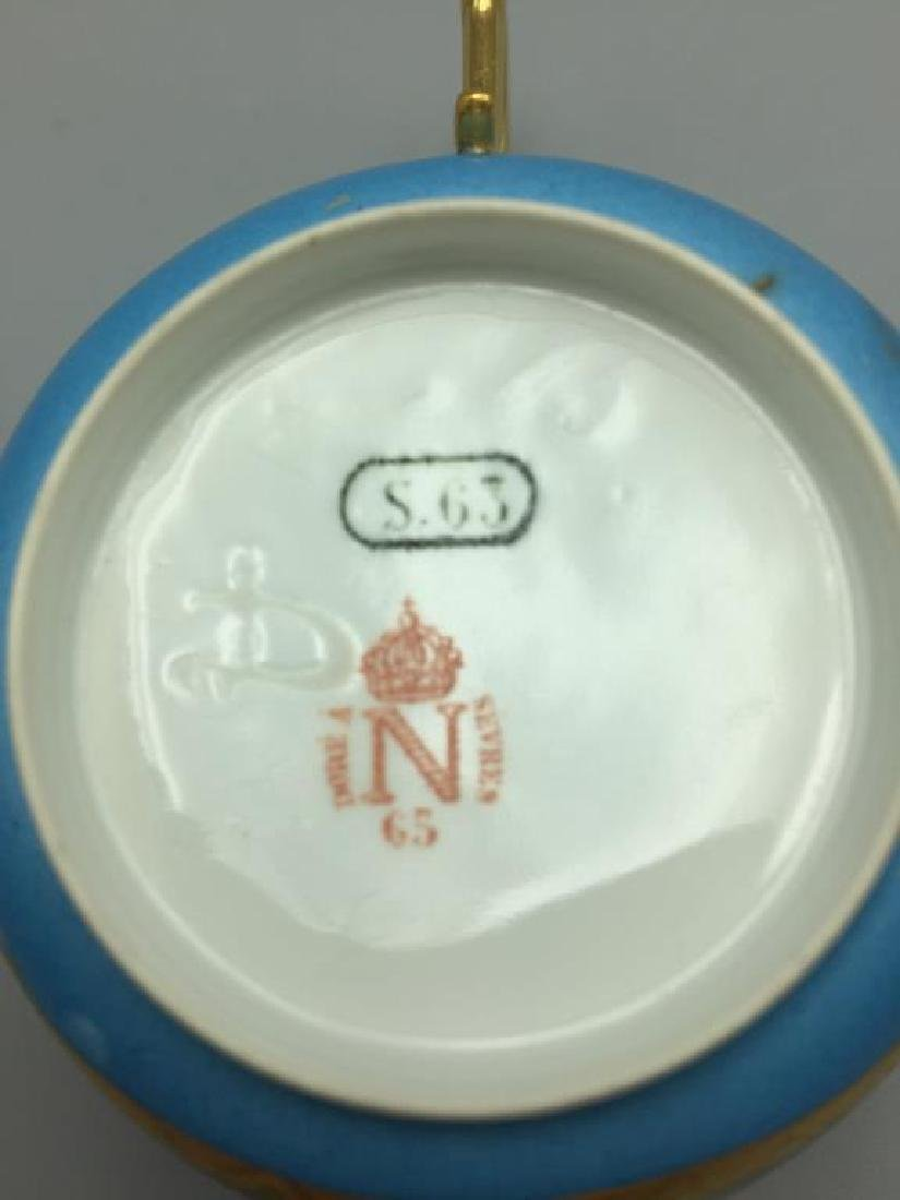 Sevres cup and saucer, lot of 4 - 3