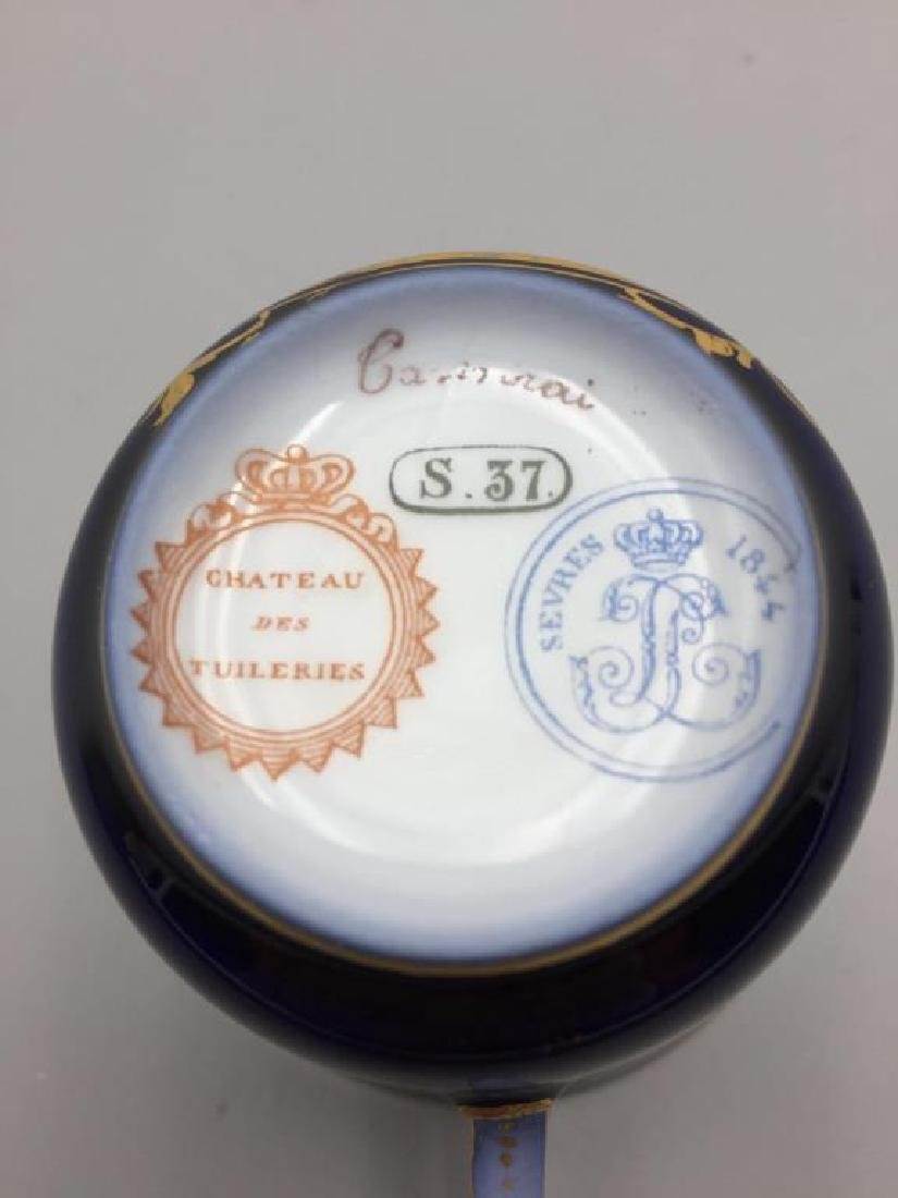 Sevres cup and saucer, lot of 4 - 7