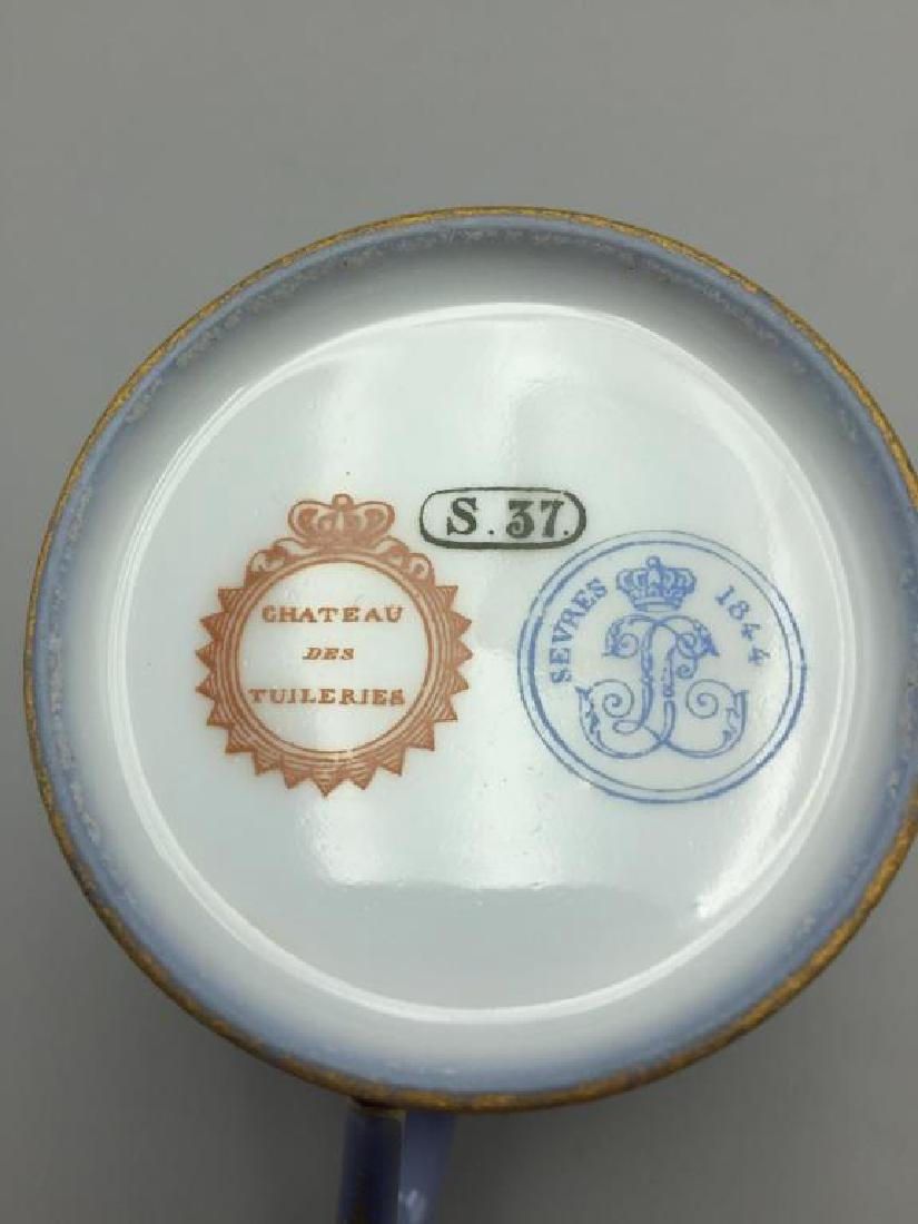 Sevres cup and saucer, lot of 4 - 9