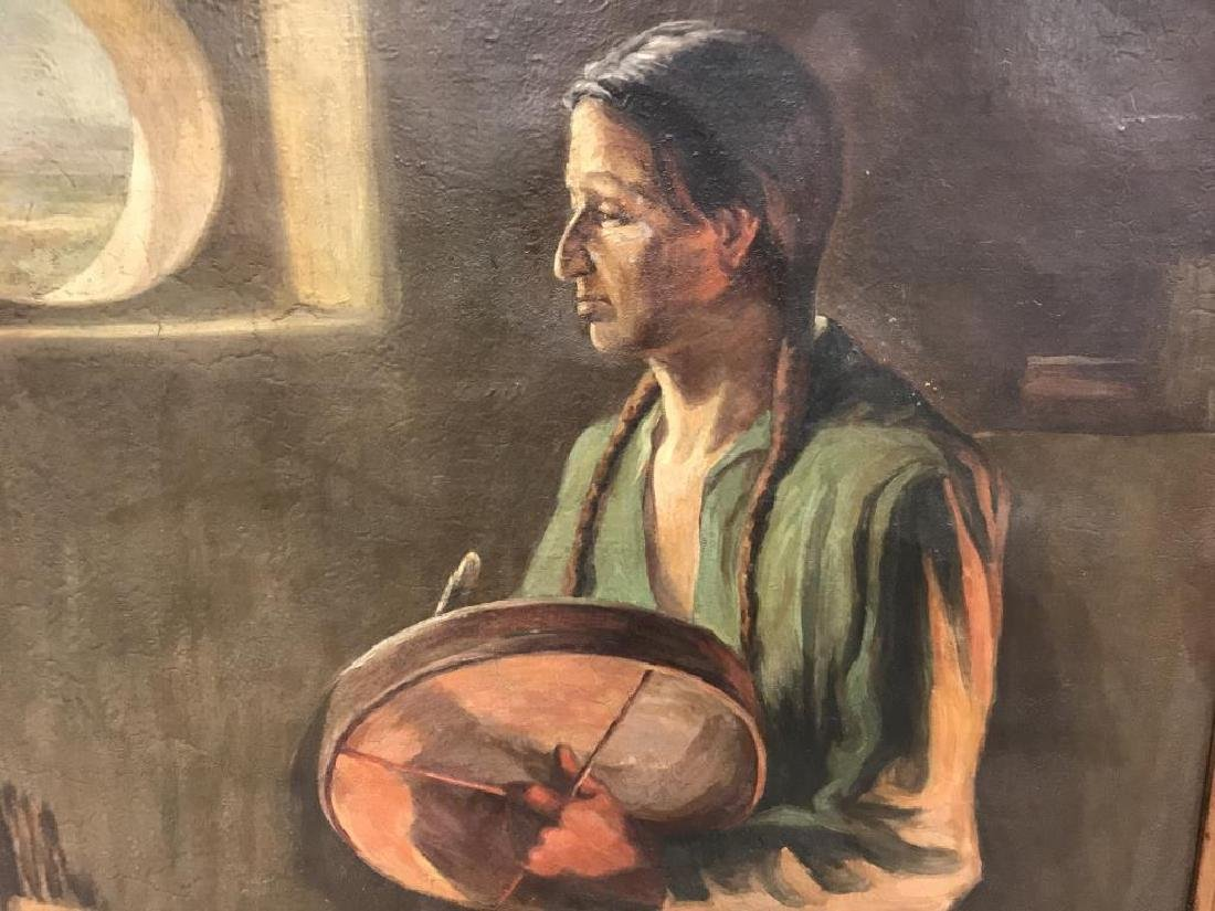 Oil Painting of  American Indian - 3