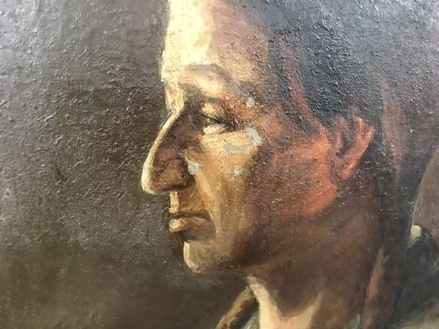 Oil Painting of  American Indian - 7