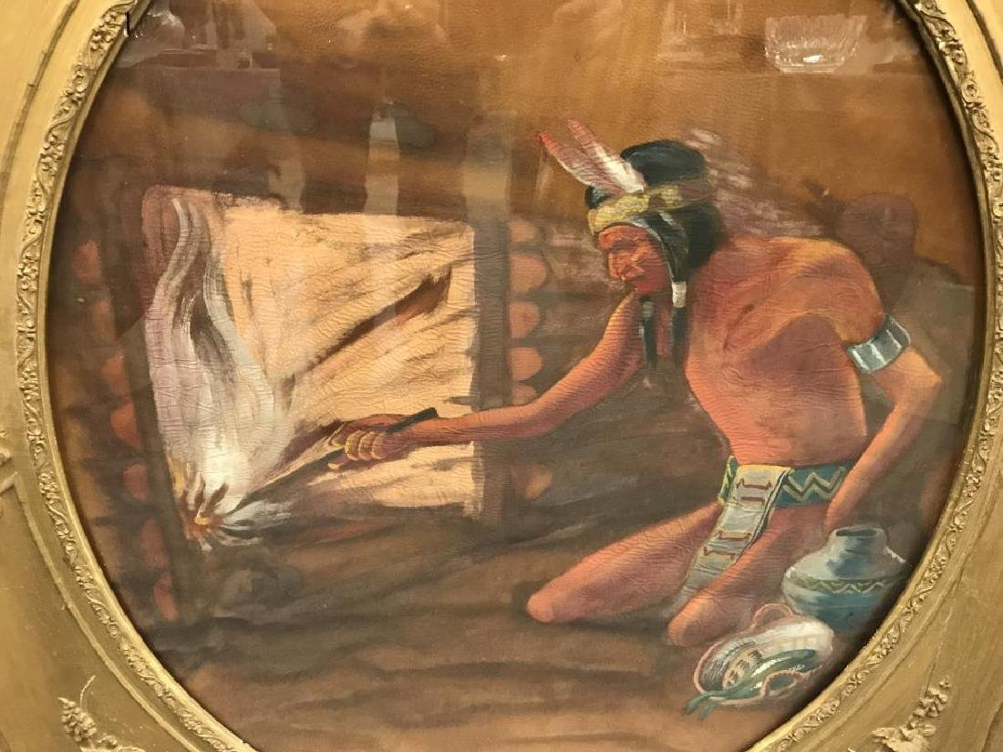 Oil painting of American Indian - 2