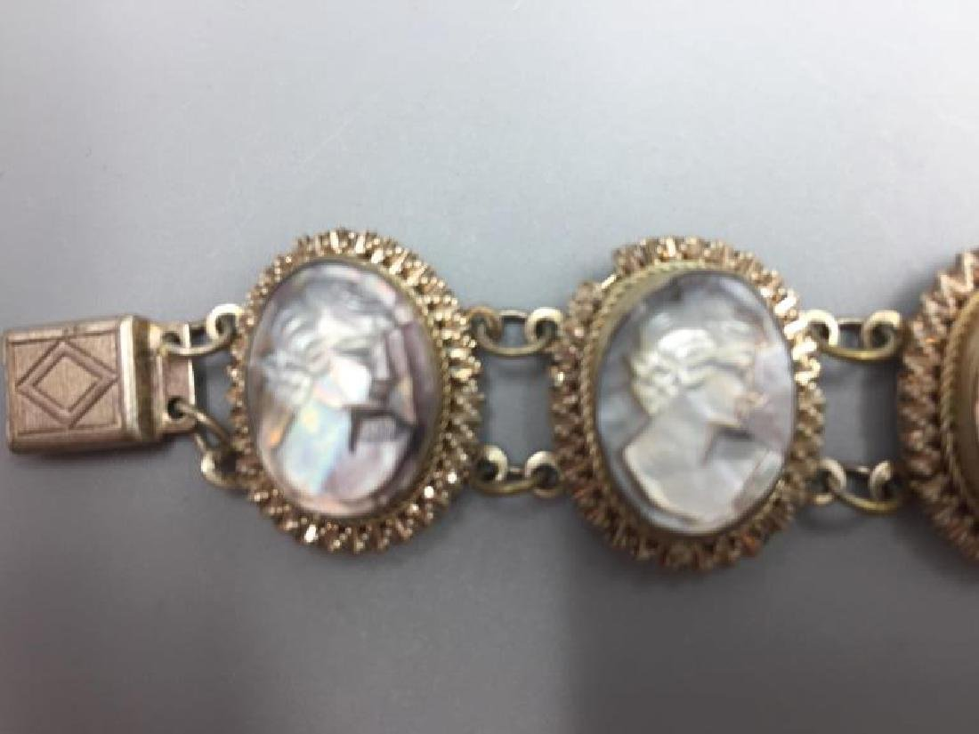 Cameo bracelet earrings, pendant and ring - 4