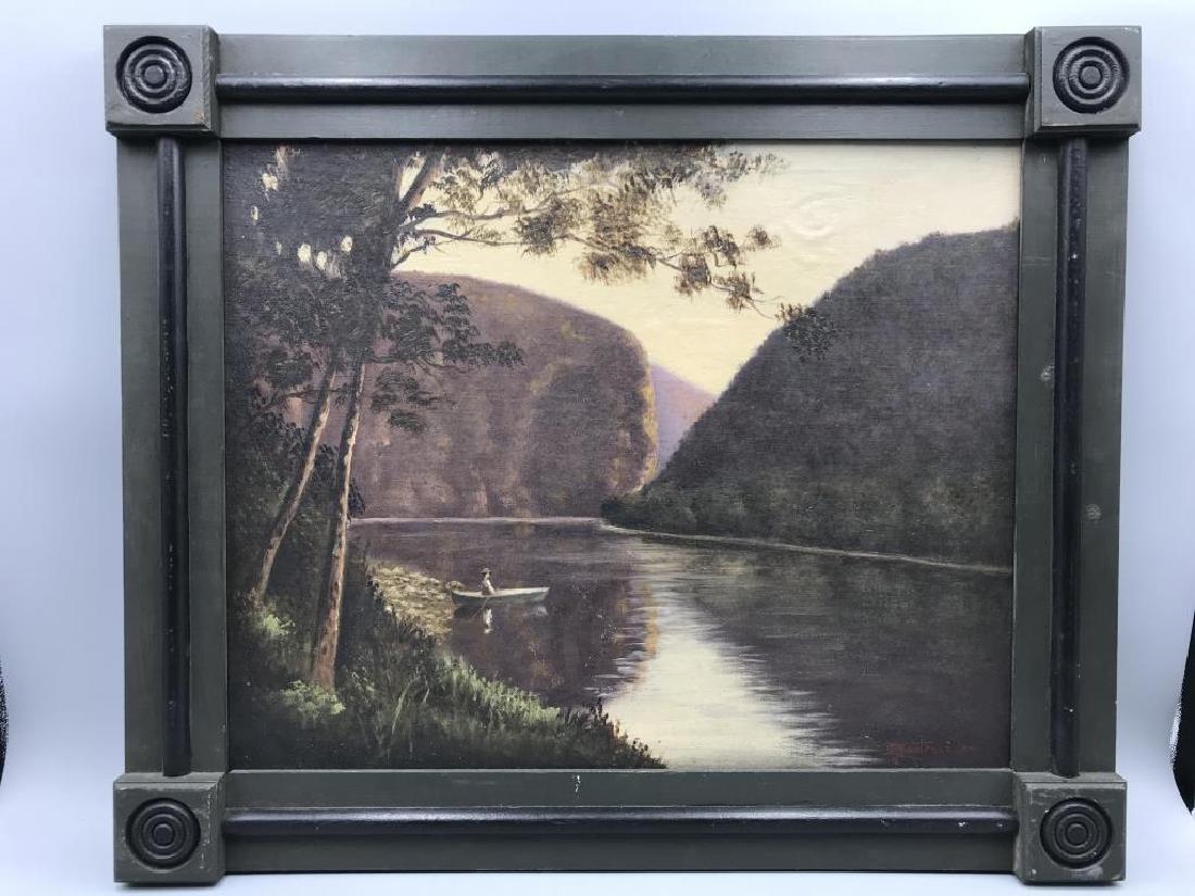 Water Gap oil painting