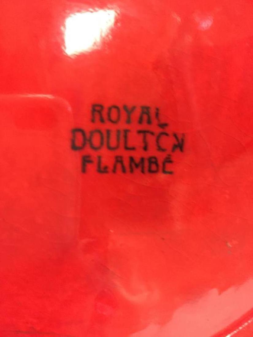 Rare Massive Royal Doulton Flambe vase - 4