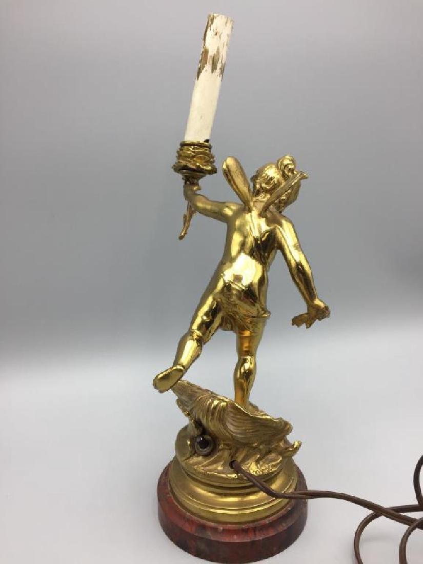 Bronze Cupid table light - 2