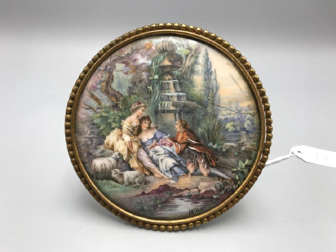Limoges signed Watt hand-painted porcelain