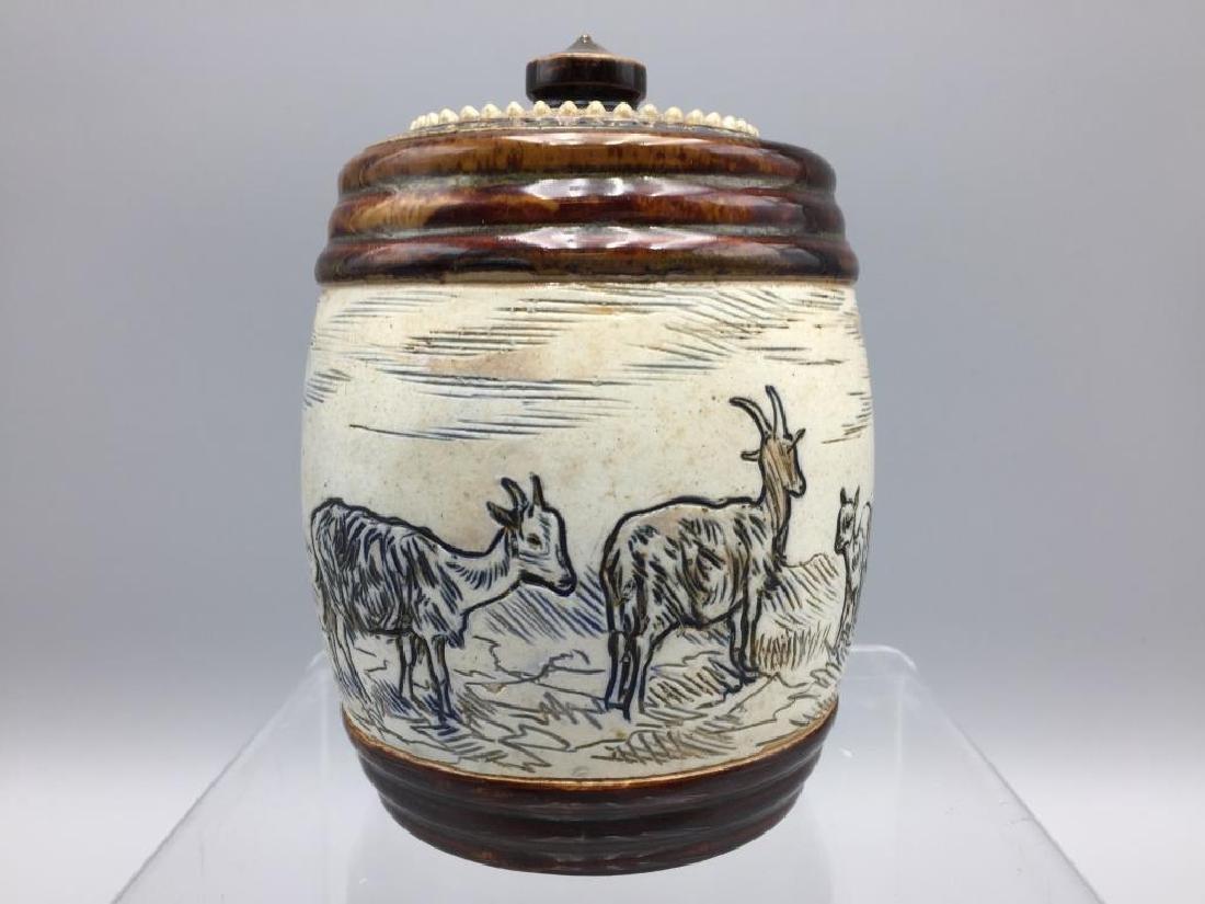 Hannah Barlow Doulton Lambeth Tobacco jar