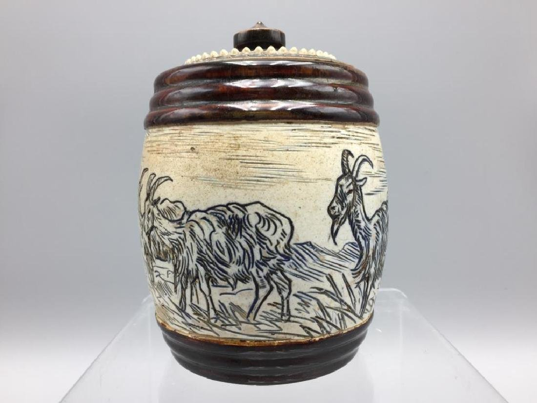 Hannah Barlow Doulton Lambeth Tobacco jar - 2