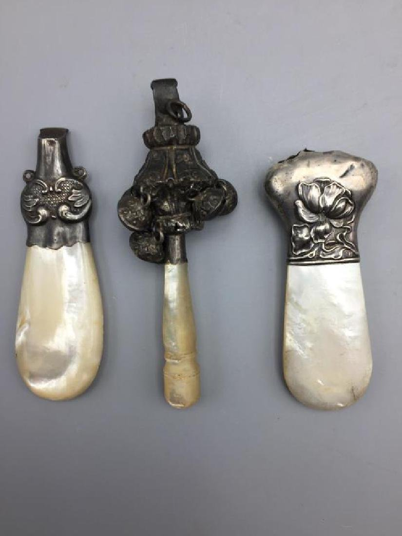 Babies Victorian rattles and  whistle