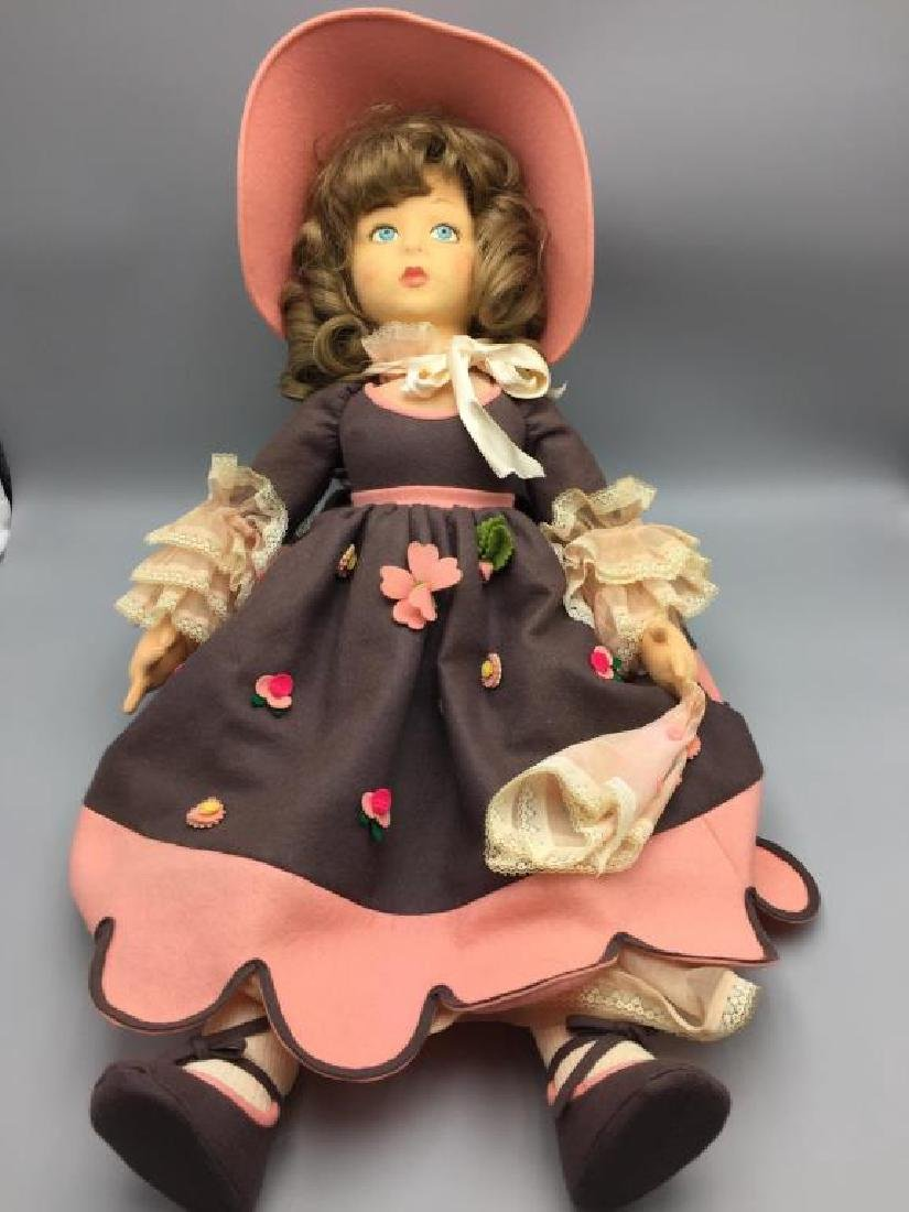 Lenci Italian felt doll in pink dress