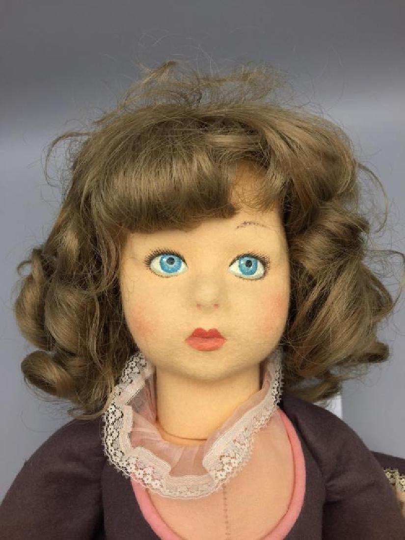 Lenci Italian felt doll in pink dress - 2