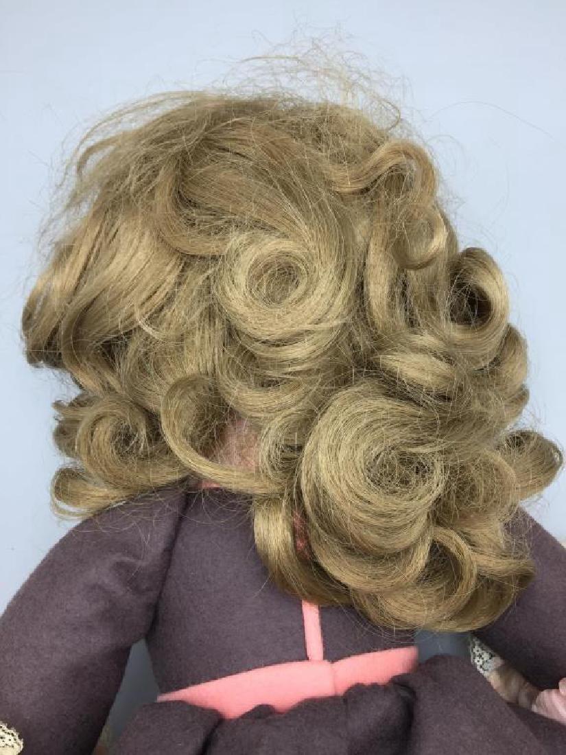 Lenci Italian felt doll in pink dress - 5