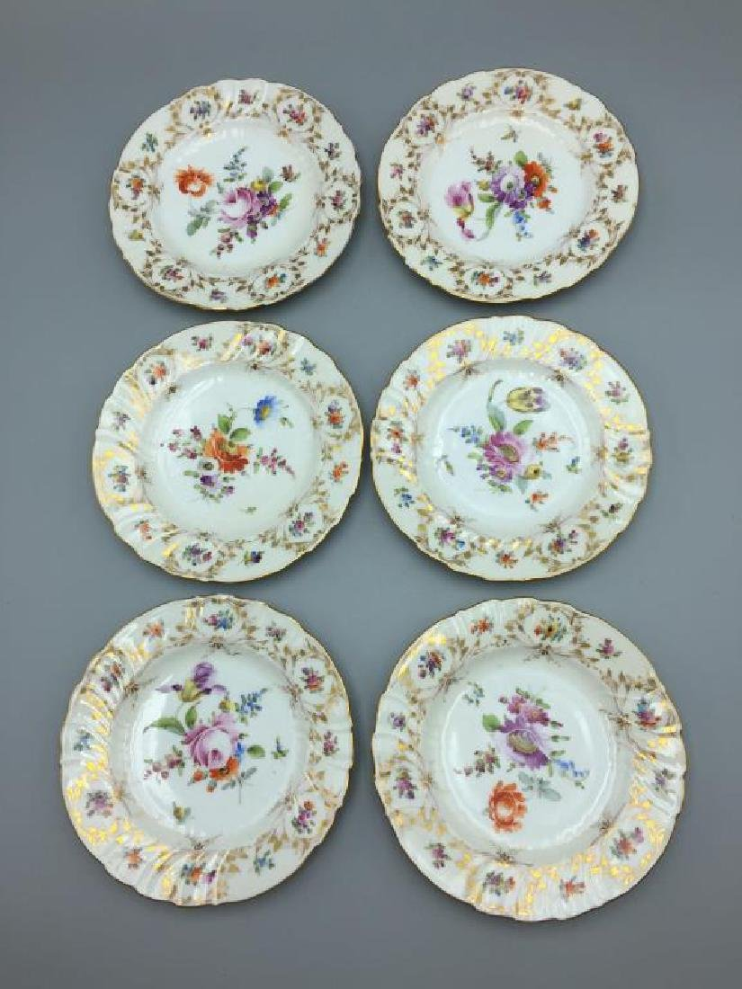 12 Dresden ice cream serving plates and dishes - 12