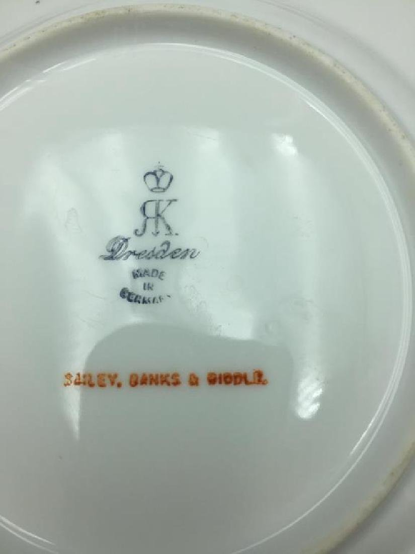 12 Dresden ice cream serving plates and dishes - 14