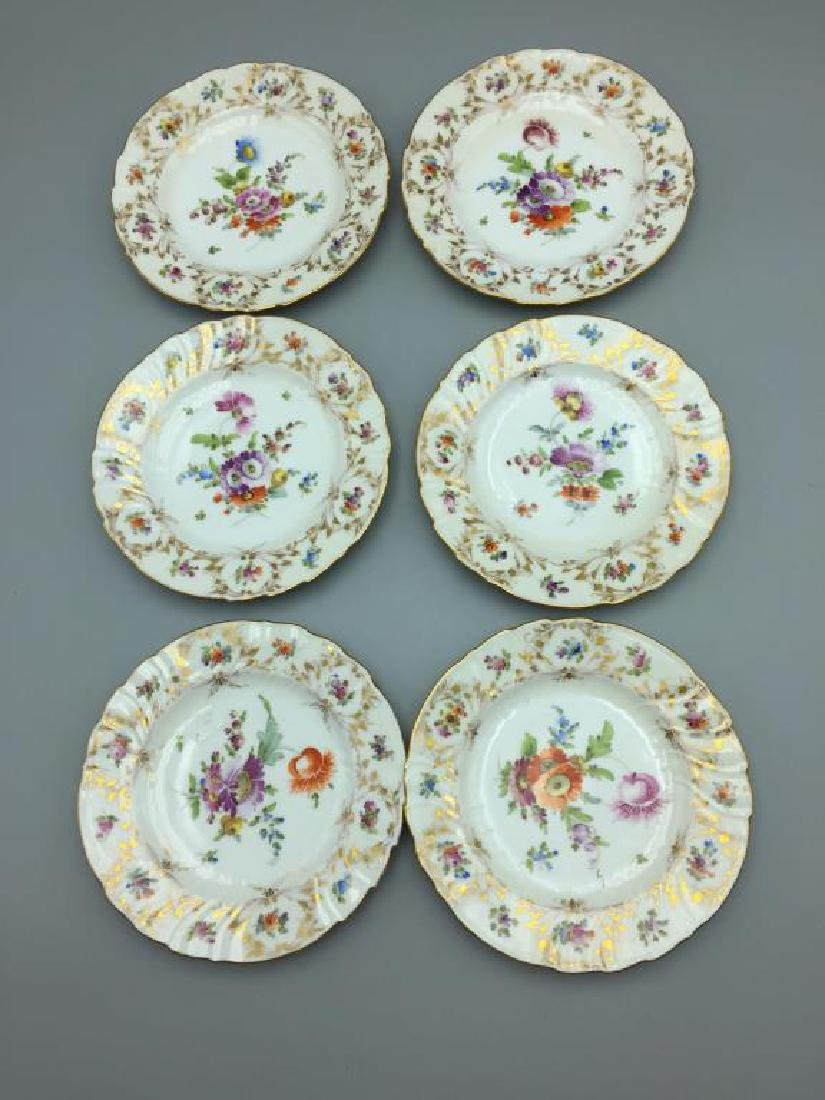 12 Dresden ice cream serving plates and dishes - 15