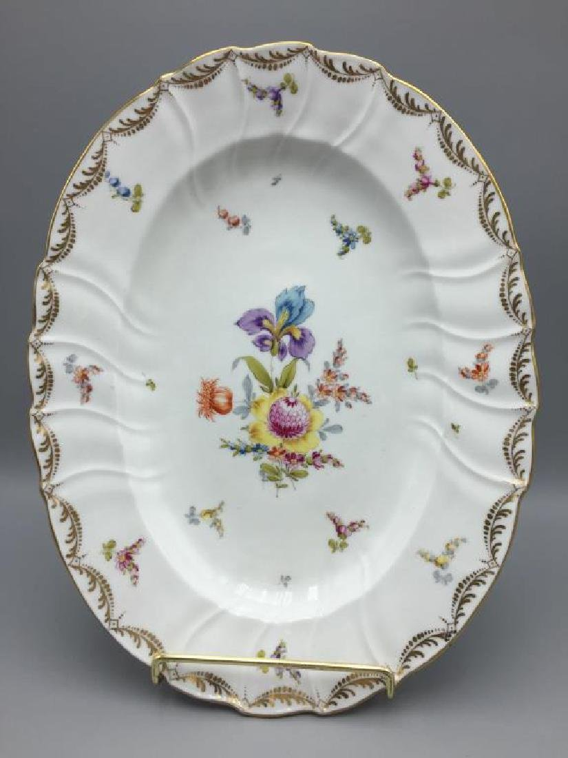 12 Dresden ice cream serving plates and dishes - 2