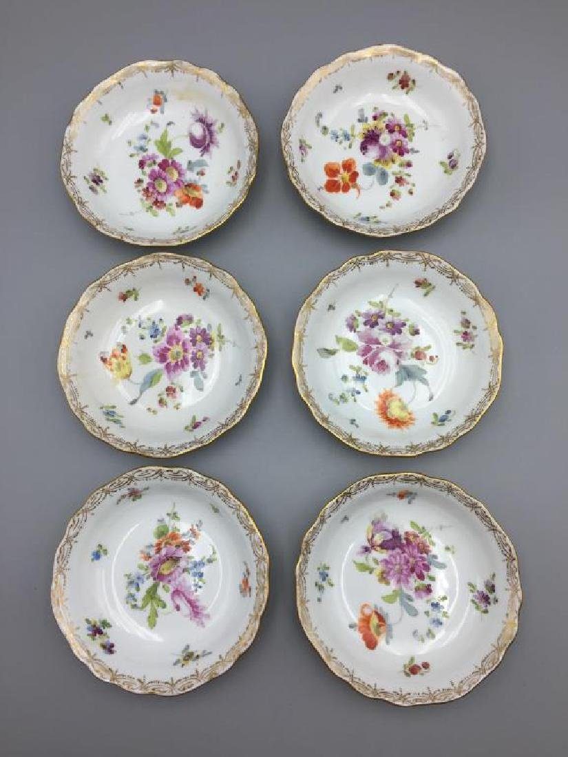 12 Dresden ice cream serving plates and dishes - 9