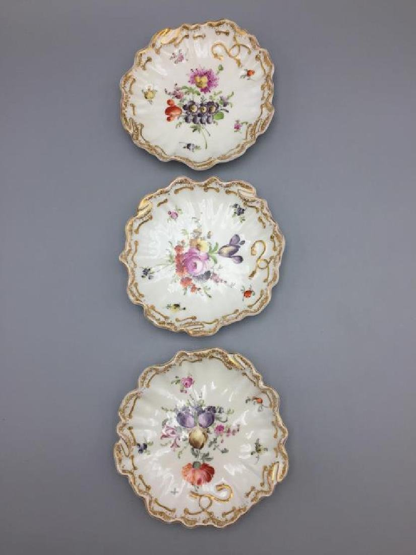 Meissen Dresden lot of 10 bowls floral pattern - 2
