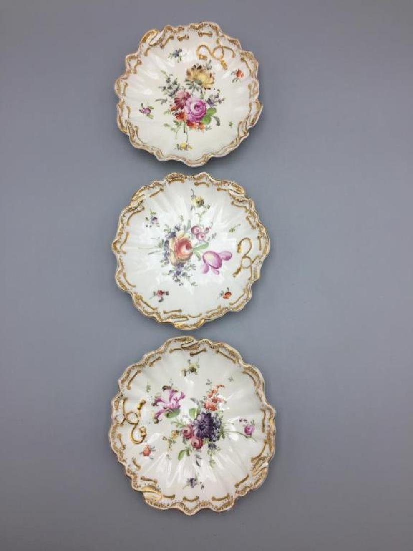 Meissen Dresden lot of 10 bowls floral pattern - 5