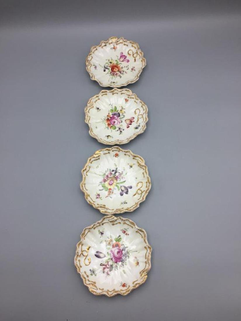 Meissen Dresden lot of 10 bowls floral pattern - 7