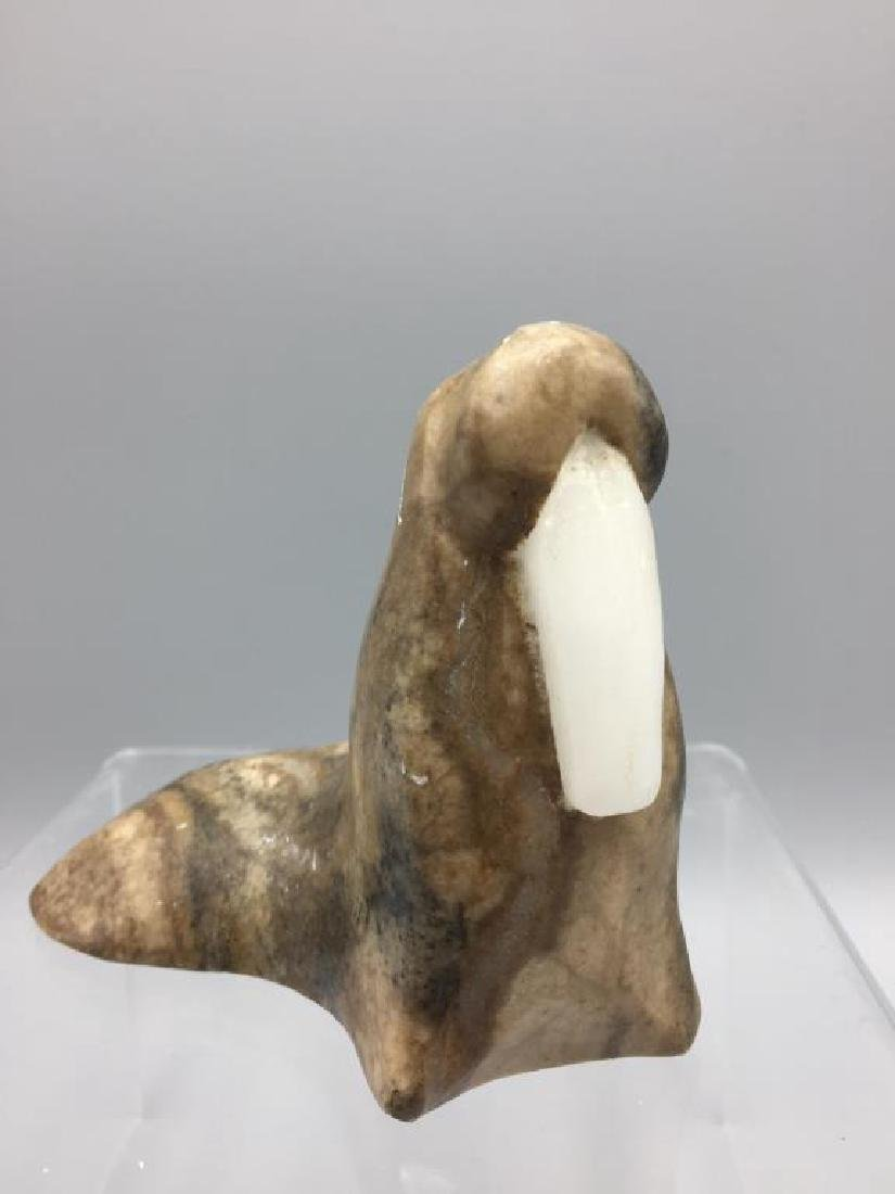 Inuit eskimo carving of a walrus