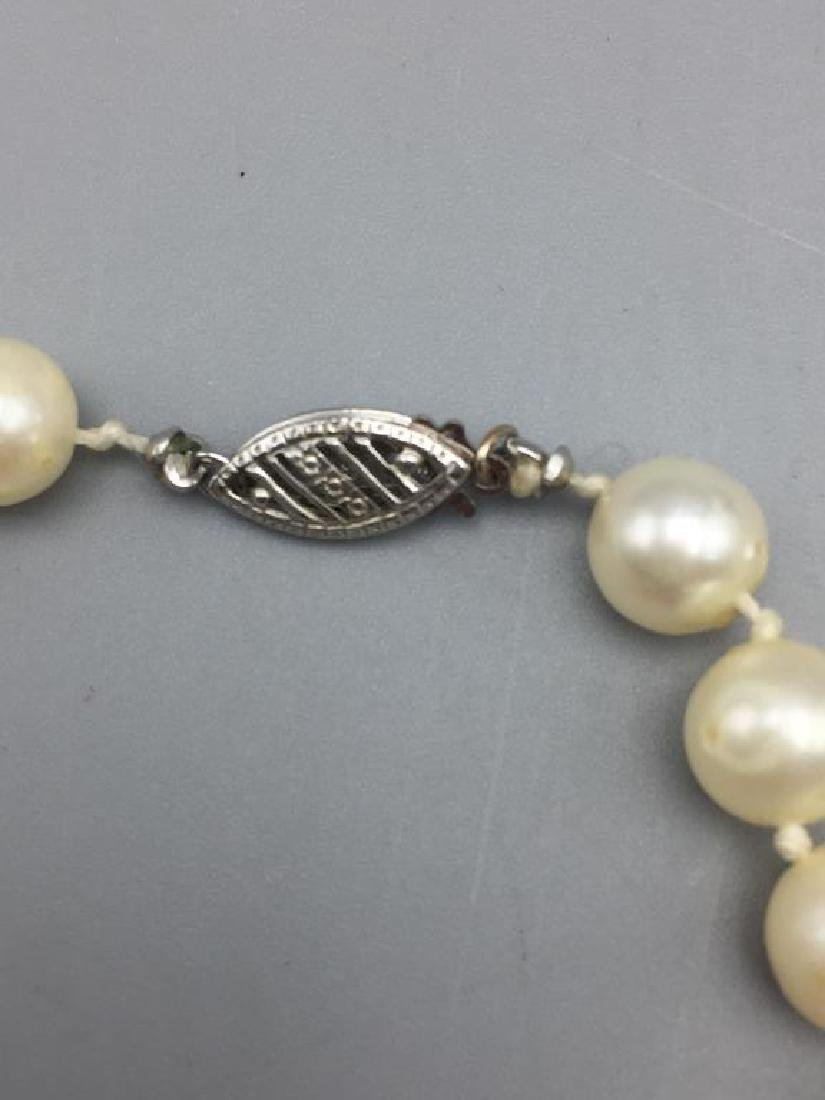 Cultured pearl necklace with 10 K clasp - 2