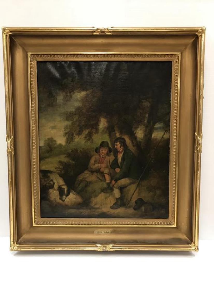 Circa 1800s oil on canvas;