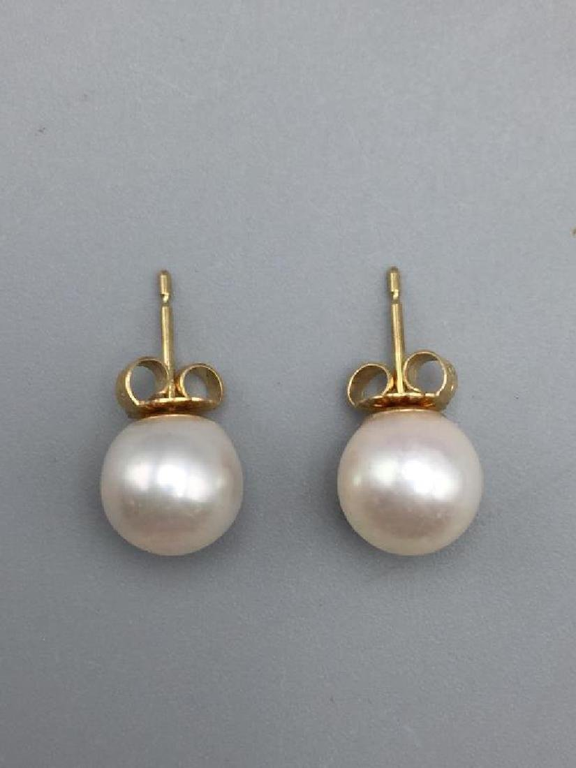 Cultured pearl necklace and earrings - 3
