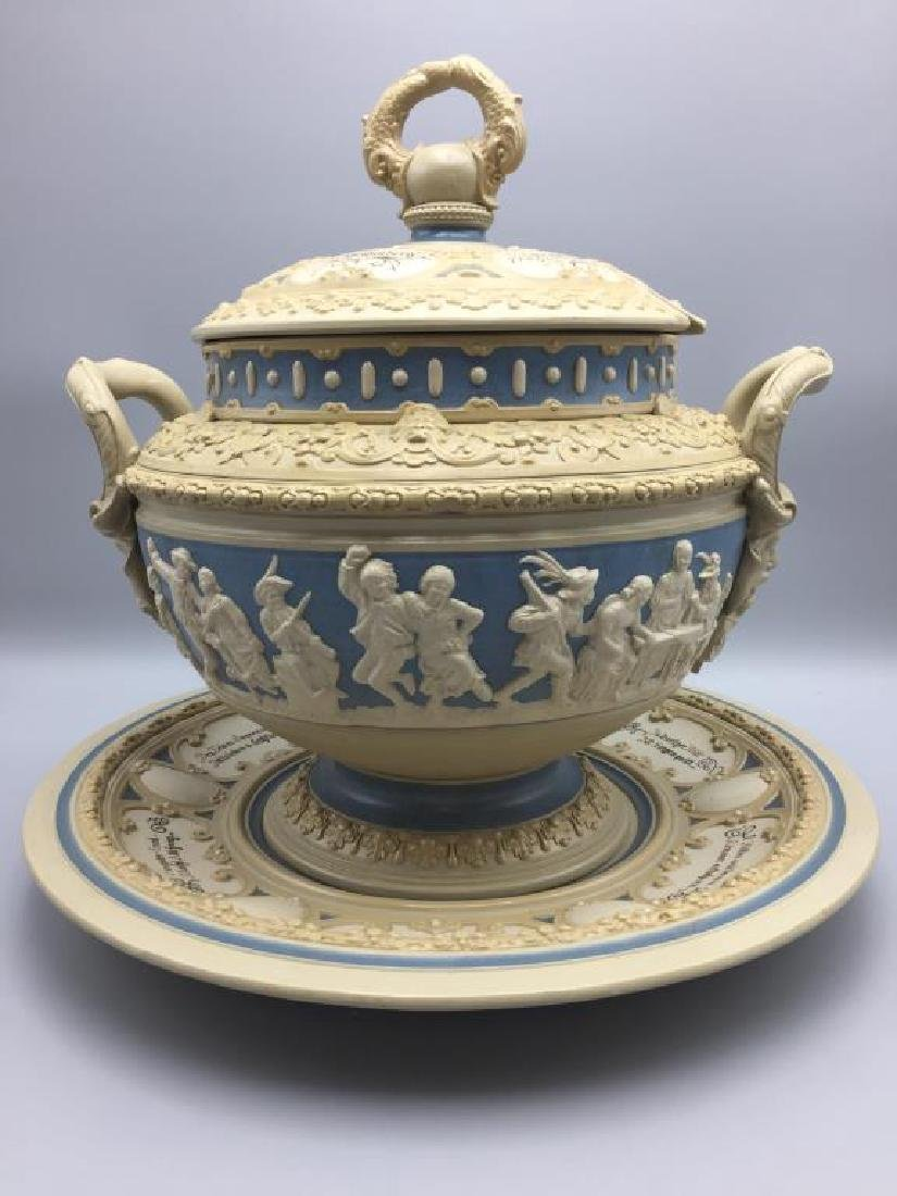 Mettlach stoneware punch bowl