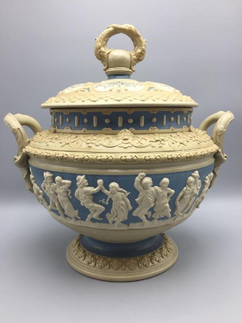 Mettlach stoneware punch bowl - 3