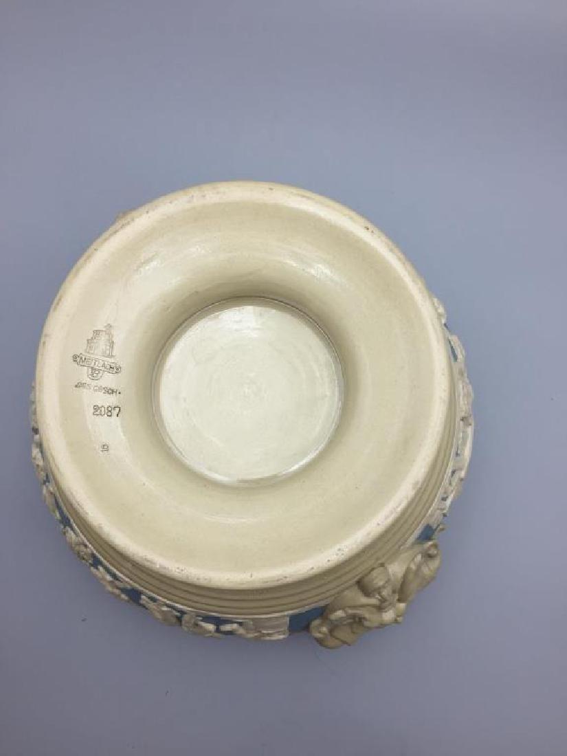 Mettlach stoneware punch bowl - 7