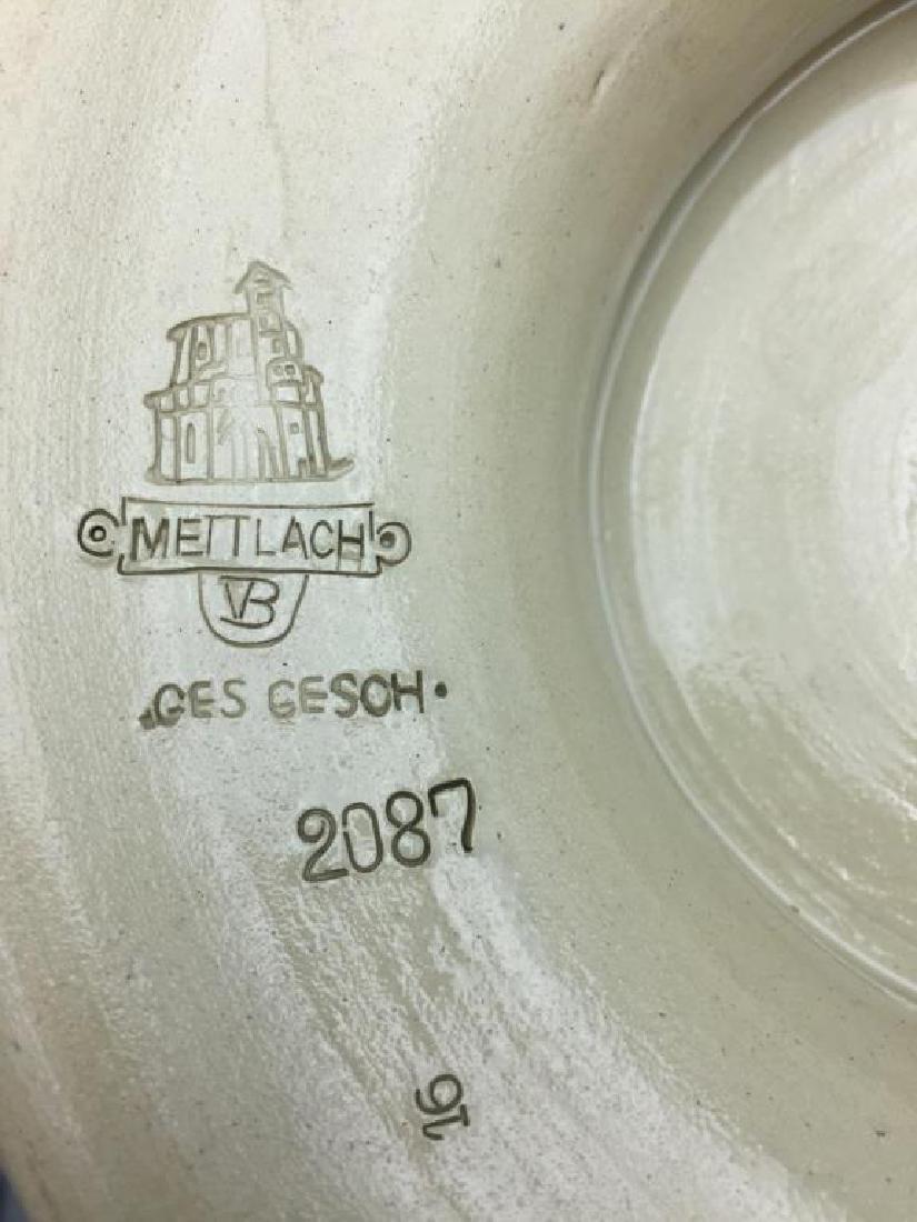 Mettlach stoneware punch bowl - 8