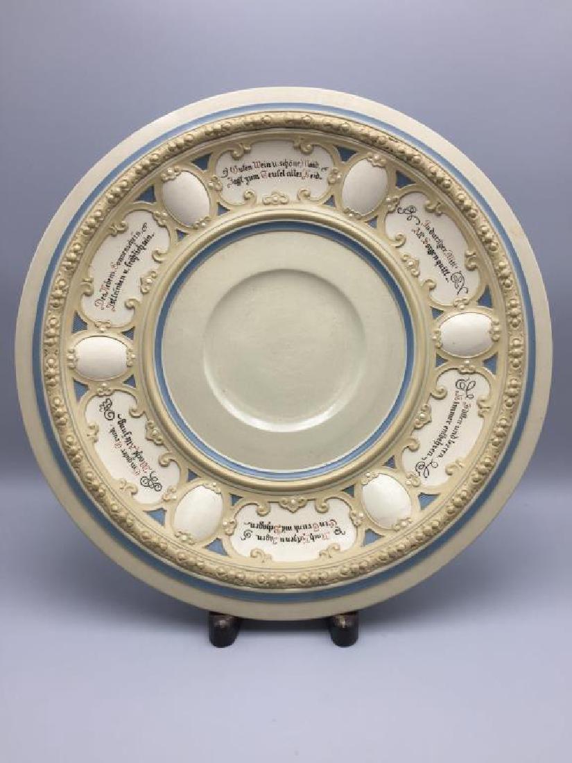 Mettlach stoneware punch bowl - 9