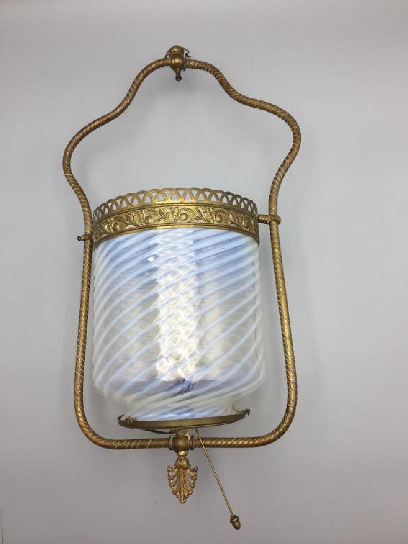 Victorian gas light with opalescent shape