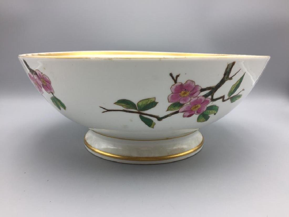 Large hand painted punch bowl - 2