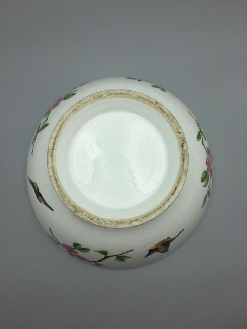 Large hand painted punch bowl - 4