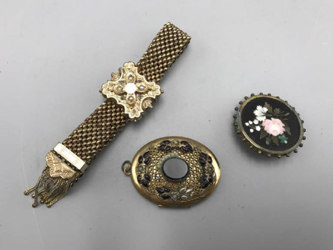 Three pieces of Victorian jewelry