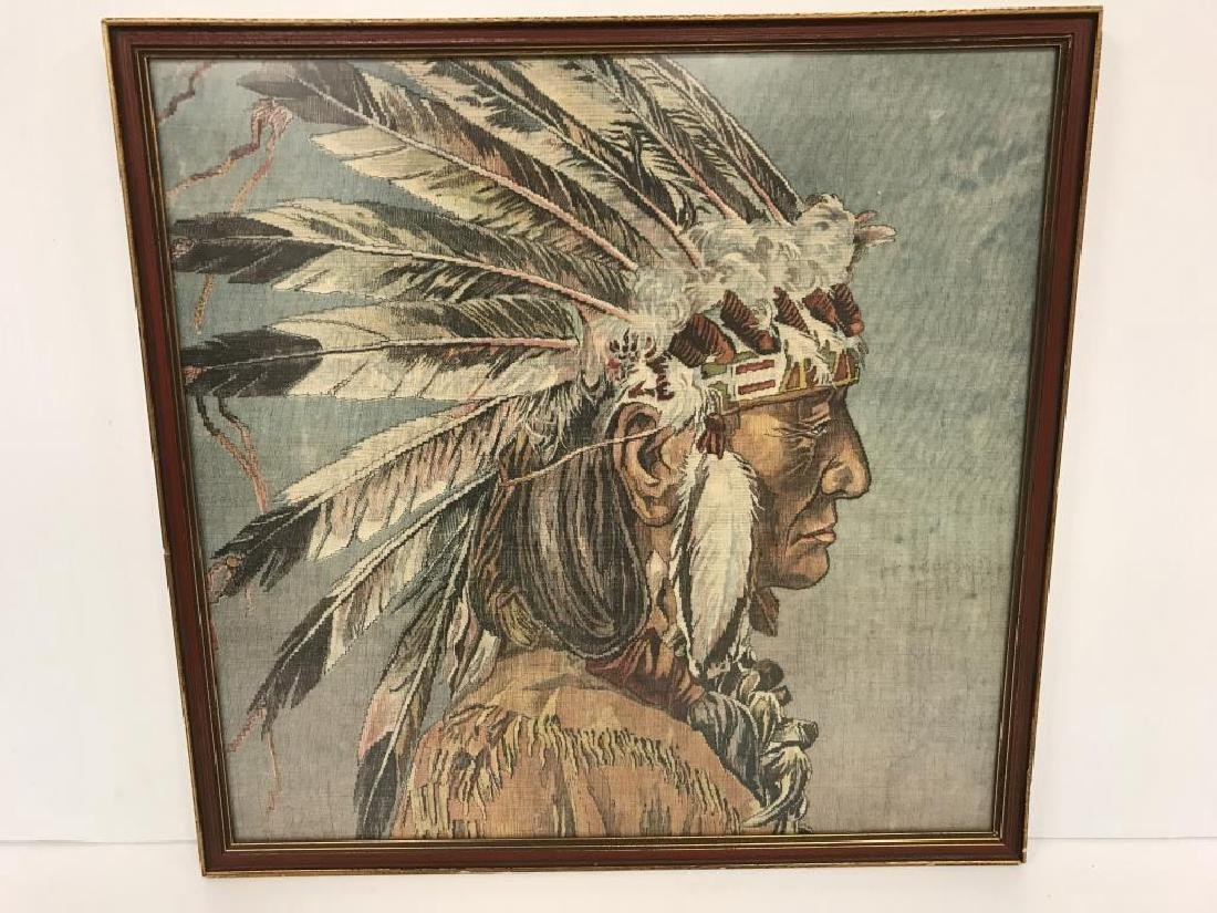 Native American Indian chief on cloth