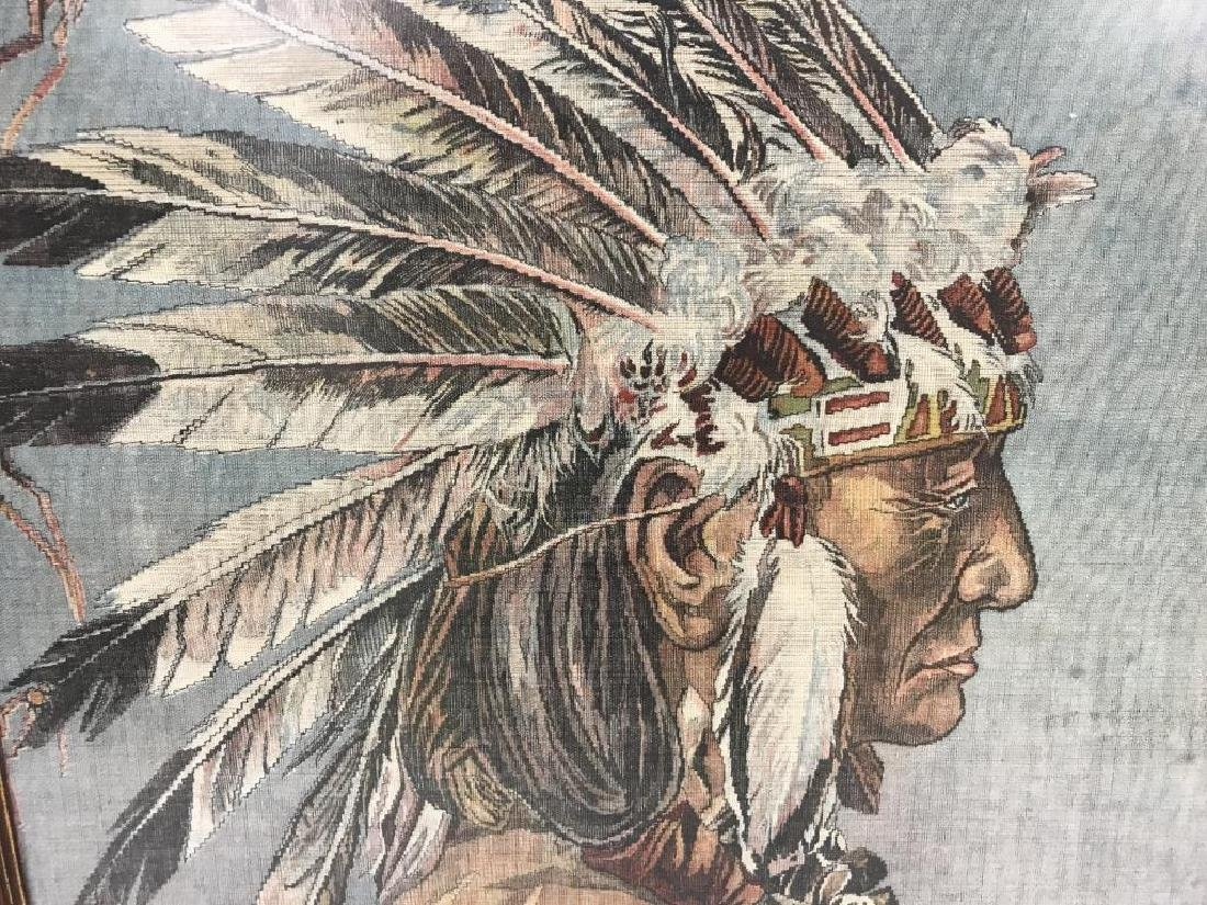 Native American Indian chief on cloth - 2
